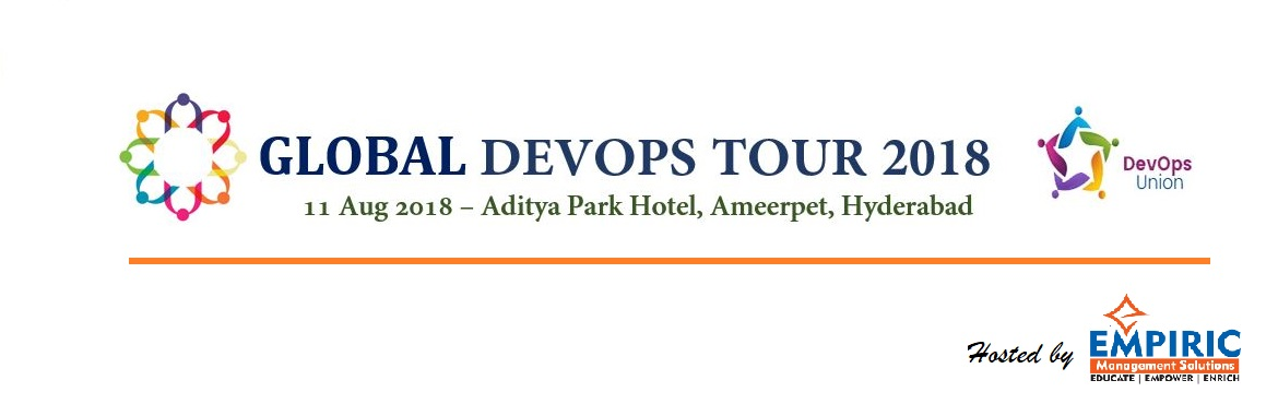 Book Online Tickets for Global DevOps Tour 2018 @ Hyderabad, Hyderabad.   Organized by passionate volunteers from the DevOps community, one day conference willbring together over 100 attendees and many international and local experts covering topics from DevOps Principles, Security, Technical practices, DevOp