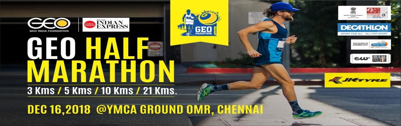 Geo Trail Marathon - 3k run, 5k run, 10k run is an upcoming running event in Chennai on 26th Aug 2018 at YMCA GROUND. Register here to participate.
