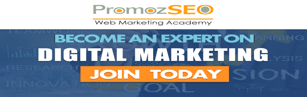 Book Online Tickets for Classroom Internet Marketing Course in K, Kolkata. PromozSEO has come up with an advanced and comprehensive digital marketing course in Kolkata for small size internet entrepreneurs, startup companies and business owners.   This internet marketing course includes all major topics of modern digit