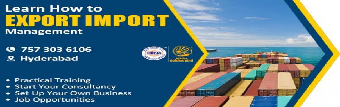 Book Online Tickets for Start and Set up Your Own Import and Exp, Hyderabad. Suitable For -1. Any Graduate / MBA student willing to become Exporter / Importer2. Businessmen having their own shop/ factory/products Or willing to Export their own Products.3. Anyone willing to work in Export /