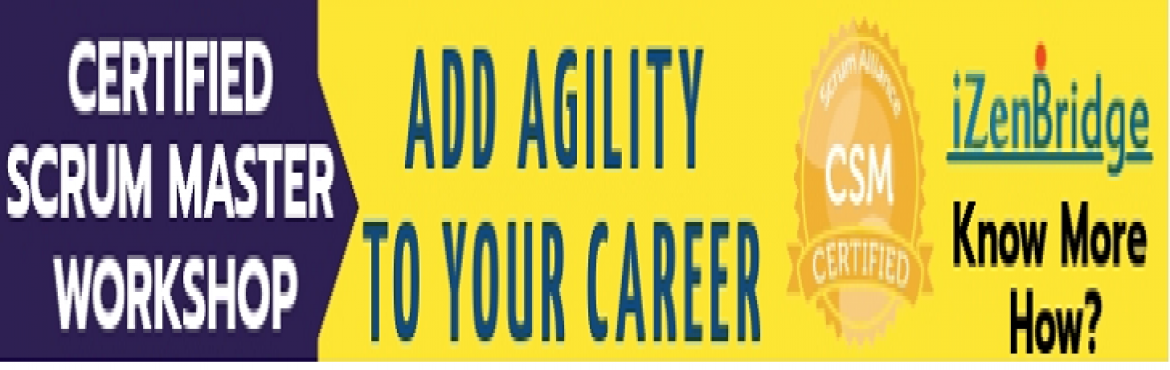Book Online Tickets for Certified Scrum Master Training in Chenn, Chennai. Agile is no more a buzzword, it's a mainstream methodology used globally for developing complex IT systems. Scrum is leading with more than 65% adoption.  Even the service organizations of outsourcing industry are moving agile, most