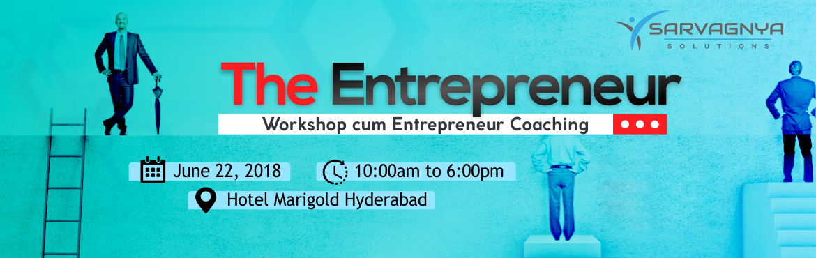 "Book Online Tickets for The Entrepreneur Workshop cum Entreprene, Hyderabad. ""The Entrepreneur"" is a full day workshop followed by three 1-on-1 coaching sessions to help you evaluate your potential for success and satisfaction in your chosen enterprise. We use a psychometrically validated assessment that has over"