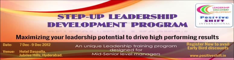 Book Online Tickets for Step-up Leadership Executive Development, Hyderabad. Step-up Leadership Executive Development: an unique Executive development program for \\\