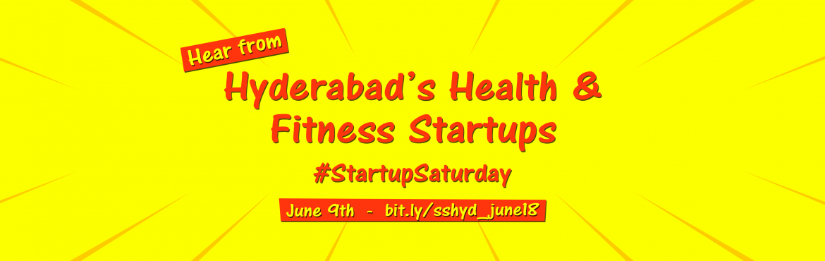 Book Online Tickets for Health and Fitness Startups Hyderabad, Hyderabad.  The Healthcare industry in India is growing at a tremendous pace owing to its strengthening coverage, services and increasing expenditure by public as well as private players. The total industry size is growing at a 15 percent CAGR and is expected t