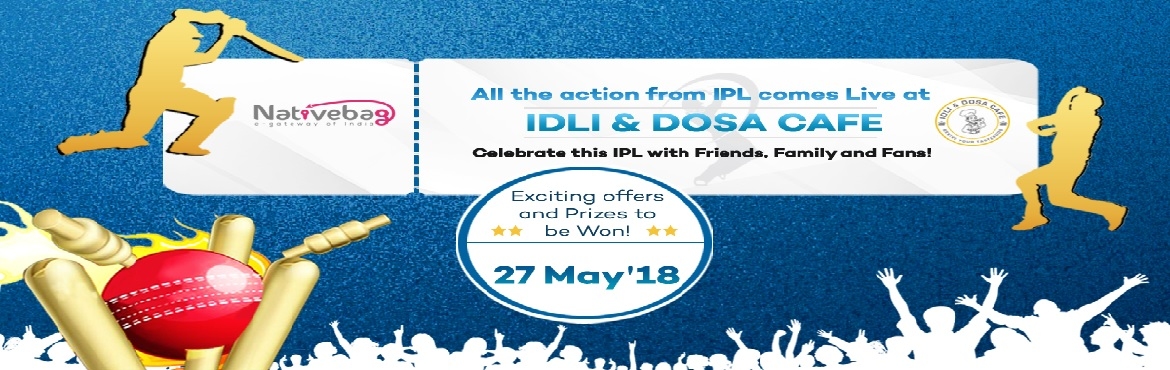 Book Online Tickets for IPL Mania (Meet, Eat, Celebrate), Bengaluru. Cricket is all about watching with a crowd and celebrating together. This event will bring you back to memories of watching with your friends in hostel, cricket stadium and even those days outside a TV shop. Enjoy the IPL final Match with an enthusia