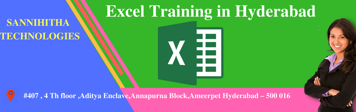 Book Online Tickets for Excel Training in Hyderabad , Hyderabad.  11 AM to 6 PM IST About the Event  Hi, Heartly welcome to Excel training seekers.  Good news for the candidate who has the aim to attain knowledge in excel and wanna become professionals and learners  We have Engaged Advanced Exc
