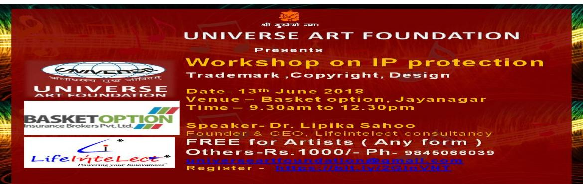Book Online Tickets for Universe Art Foundation Presents worksho, Bangalore.