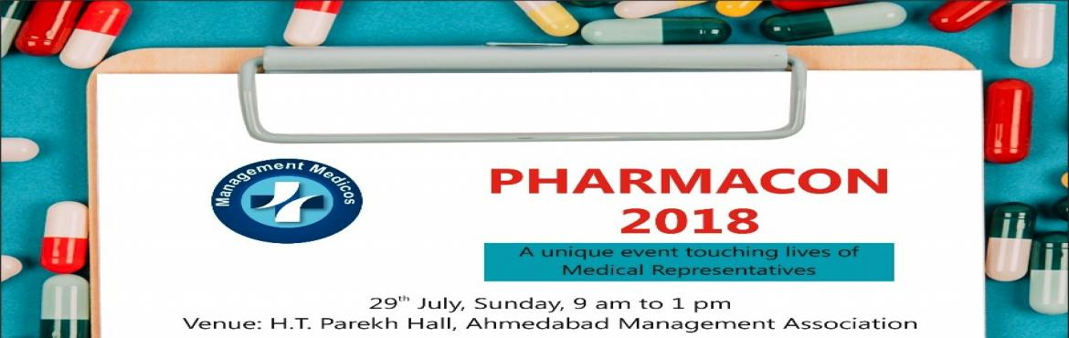 Book Online Tickets for PHARMACON 2018, Ahmedabad. Dear, As a constant endeavor do something new and useful for medical industry, we at Management Medicos are here with something very important and useful for the pharmaceutical industry and medical representatives: PHARMACON 2018. This event will foc
