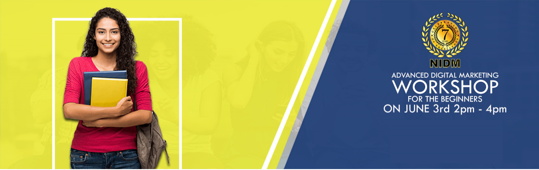 Book Online Tickets for Free Workshop on Advanced Digital Market, Bengaluru.  Free Workshop on Advanced Digital Marketing For Beginners  National Institute of Digital Marketing - Koramangala  Location Koramangala, Near Sony World Signal, Opp MTR  Date: 3 june at 2pm to 4pm  TOPICS COVEREDDigital