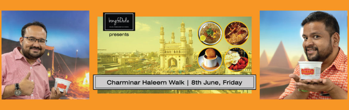 Book Online Tickets for Charminar Haleem Walk 2018, Hyderabad. The month of Ramzan is always very colorful and bright with a festive feeling around Charminar adding to its charm. There is food, shopping and many many more actions which make it a must visit place during this Holy Month. Haleem, introduced during