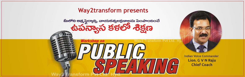 Book Online Tickets for Public Speaking Training , Hyderabad.   \