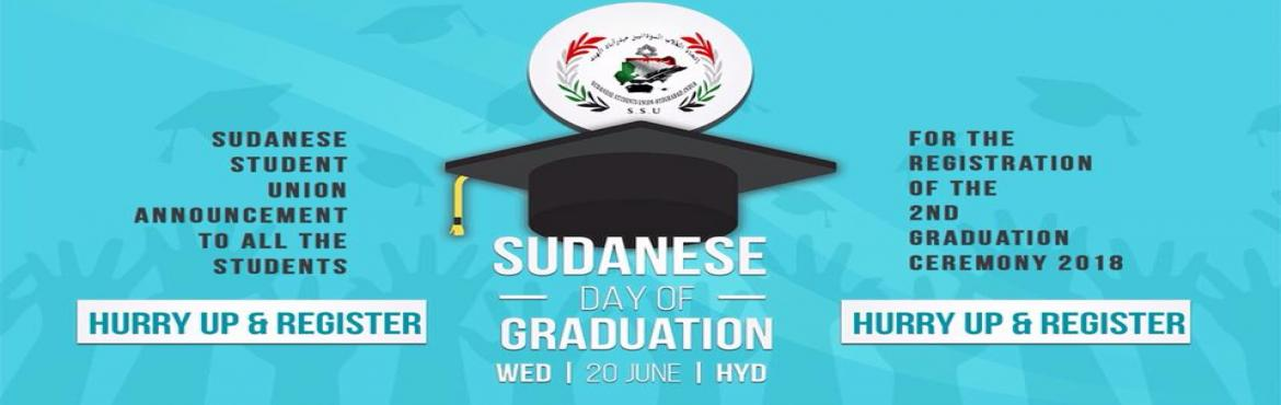 Book Online Tickets for  join sudanese 2nd graduation cermoney i, Hyderabad. Sudanese Students Union celebrate 2nd Graduation Ceremony 20- june-2018 and invite you all to attend the ceremonyvenue : Leonia Holistic Destination     Bommaraspet, Shameerpet, Ranga Reddy District, Shamirpet, Hyderabad, Telangana 500