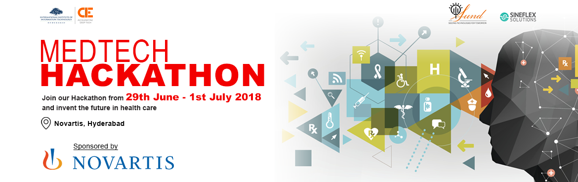 Book Online Tickets for MedTech Hackathon, Hyderabad. Mentors:1. Ramjee Pallela, COO - AIC CCMB2. Ramesh Loganathan, Prof - IIITH & COO, IIITHF. 3. Ajay Jain, Co-Founder IIIT Seed Fund.4. Kavita Vemuri, Research Scientist at IIITH  5. Dinesh Koka, Founder - Onward Healt