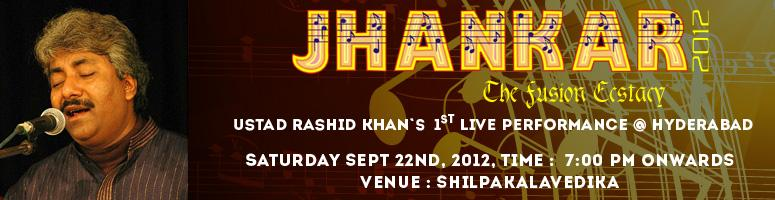 Book Online Tickets for Ustad Rashid Khan\'s - Fusion Ectasy, Hyderabad.