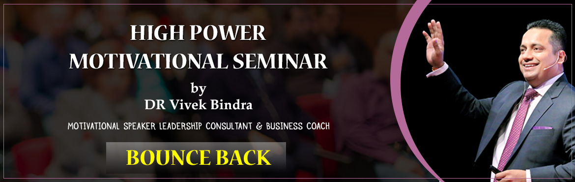 "Book Online Tickets for Bounce Back Series , Jaipur. Dr. Vivek Bindra – The Power House of Motivation to deliver a Power Pack seminar with his electrifying energy in Mumbai ""Bounce Back!"" Bounce Back series is all about igniting the mind of the audience to make them successful in thei"