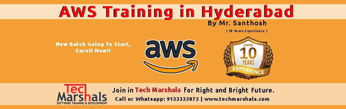 Book Online Tickets for AWS TRAINING - TECH MARSHALS ACADEMY HYD, Hyderabad. This AWS certification course will help you learn the key concepts, latest trends, and best practices for working with the AWS architecture – and become industry-ready aws certified solutions architect to help you qualify for a position a