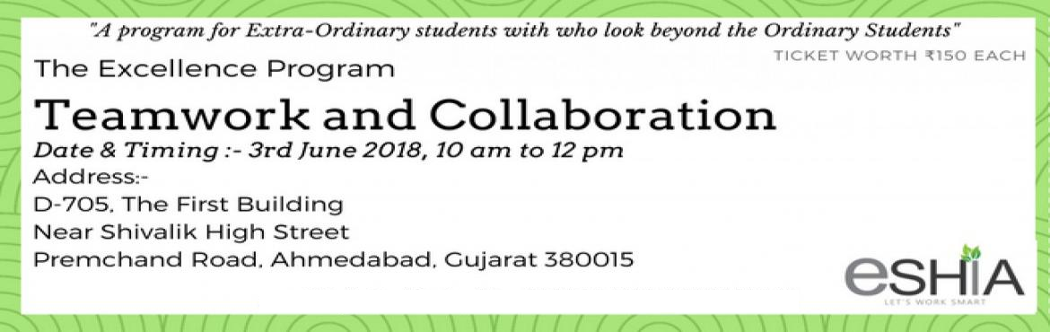 Book Online Tickets for The Excellence Program, Ahmedabad.  THIS ISN\'T JUST A SEMINAR, RATHER ITS A GROUP DISCUSSION FORUM WITH THE PROFESSIONALS IN THE INDUSTRY, A COMPLETE INTERACTIVE SESSION    KEY POINTS:-  The participants are limited to 10 to provide the speaker and the participant to i