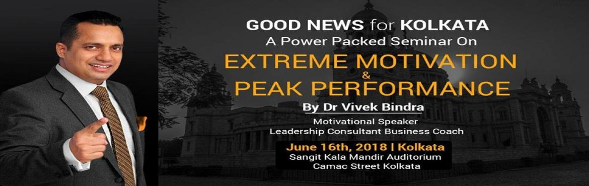 Book Online Tickets for Dr.Vivek Bindra Motivational Speech and , Kolkata. We are glad to announce A HIGH POWER MOTIVATIONAL SEMINAR by Dr. VIVEK BINDRA on Saturday 16th JUNE 2018. At KALA MANDIR AUDITORIUM, Shakespeare Sarani, KOLKATA Timings:- Evening 6 PM till 9 PM. Followed by Dinner!It is a great opportunity for you, t