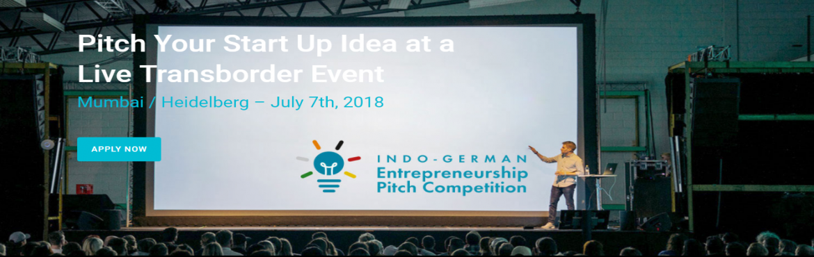 Book Online Tickets for Indo-German Entrepreneurship Pitch Compe, Mumbai. What is the Indo-German Entrepreneurs Pitch Competition all about?       Innovations with a Global and Social Impact.  We want to explore ideas which can be translated from local to more global in social and technological context. Some exam
