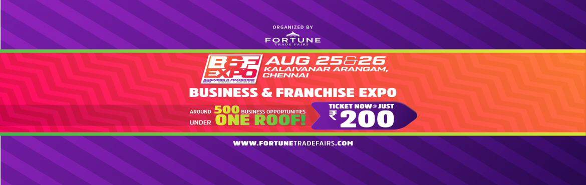Book Online Tickets for Business and Franchise Expo - 2018, Chennai.         About The Event   Meetup overview   Welcome to the Business & Franchise Expo  2018. Business opportunity and franchise expo 2018 is an exclusive expo to explore a wide range of business opportunities thu