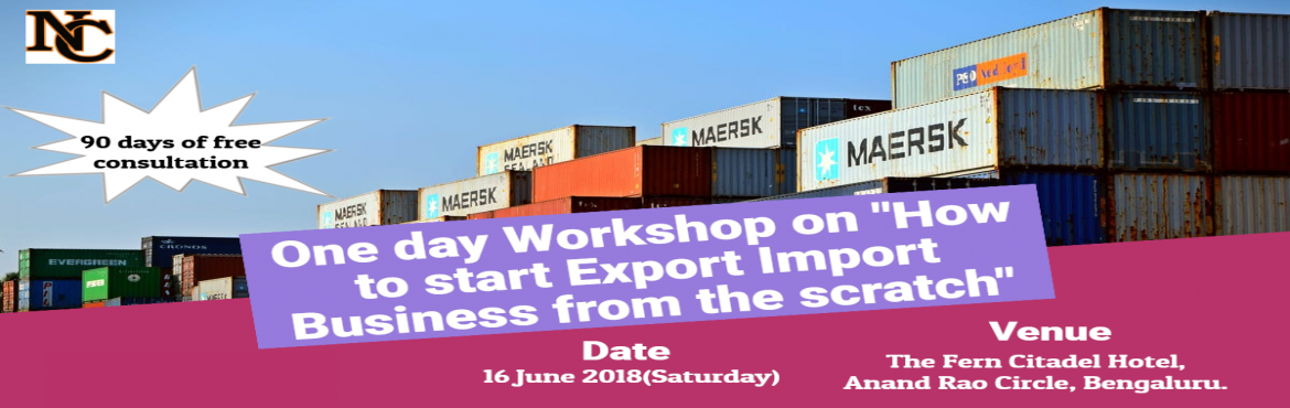 Book Online Tickets for Learn How to Establish Export Import Bus, Bengaluru. ONE DAY PRACTICAL ORIENTED INTERACTIVE TRAINING SESSIONS ON EXPORT / IMPORT BUSINESS   Trainer :  Mr. Santhosh , Co - Founder , Learn Exim     A. Sessions    • A1. Session By Industry Expert, covering all aspe