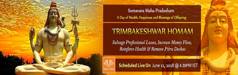 Book Online Tickets for Somavara Maha Pradosham Special Rituals, Chennai. Trimbakeshwar homam On Somavara Maha Pradosham  Salvage Professional Losses, Get Financial Stability, Accomplish Unfulfilled Desires & Remove Pitru Doshas Scheduled Live On June 11, 2018 @ 4.30 PM IST Somavara Maha Pradosham Special Rituals  Trim