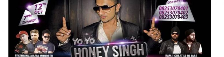 Yo Yo Honey Singh LIVE in Bhilai - 12th Oct - Bhilai Club, Bhilai