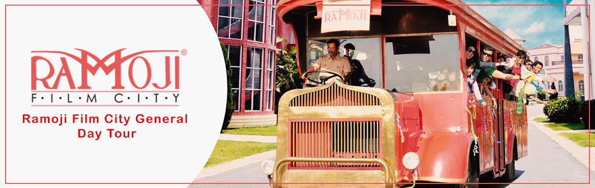 Book Online Tickets for Ramoji Film City Tour, Hyderabad.    Guided tour of Ramoji Film City in Non-A/c Vintage Bus (10am to 5pm). Visit to Bahubali Set (last bus at 4pm). Visit to Eco Zone – Butterfly Park, Exotic Bird Park – WINGS & Bonsai Garden. Fundustan(Child play area),