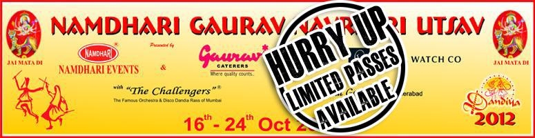 Book Online Tickets for Namdhari Gaurav Navratri Utsav 2012 @ Im, Hyderabad.  