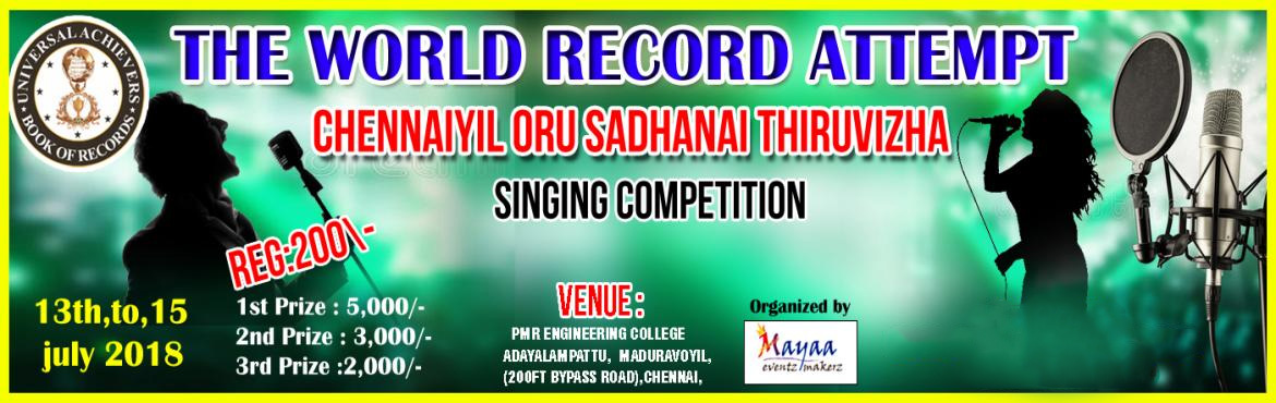 Book Online Tickets for SINGING COMPETITION - 2018, Chennai.   \