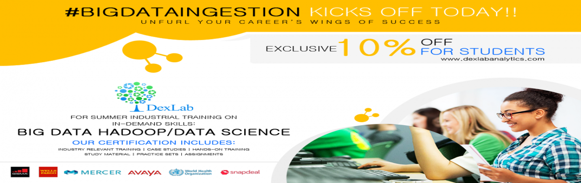 Book Online Tickets for Say Cheers to Summer With DexLab BigData, Gurgaon Ru. Big data and data science are fast becoming the lifeblood of IT. All the in-demand skills, like hadoop, machine learning and business analytics— for analyzing vast volumes of data are expanding at a rapid pace; thus, making data science careers