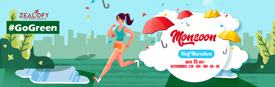 Book Online Tickets for Monsoon Half Marathon 2018, Bengaluru. Monsoon Half Marathon 2018 MONSOON HALF MARATHON 2018 Who doesn\'t like playing in the rain. We all remember the beautiful memories from our childhood of playing and dancing in the rain. It was a bliss! Bangalore it's time to relive those momen