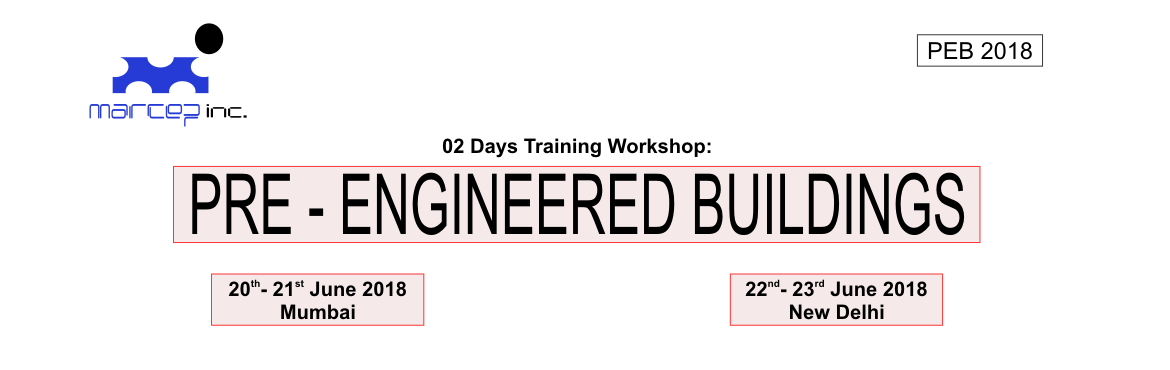 Book Online Tickets for  PRE- ENGINEERED BUILDINGS MASTERCLASS 2, Mumbai. Lower Cost:   Due to the systems approach, there is a significant saving in design, manufacturing and site erection cost.     Foundations:   Pre-engineered Buildings are about 30% lighter than the conventional steel structures. He