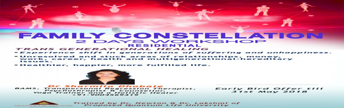 Book Online Tickets for Family Constellation, Mumbai.  One day Residential workshop. Family Constellation is the transgenreartional healing process. We inherit not only genetic print but the belief system and also unhealed issues of our lineage through our parents. They continue to influence o