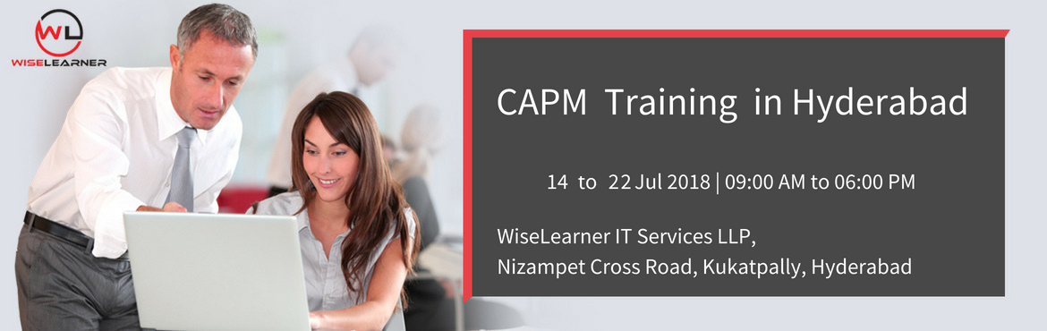 Book Online Tickets for CAPM Training with Most Skillfull Traine, Hyderabad. OVERVIEW PMI's Certified Associate in Project Management (CAPM) is a valuable entry-level certification for the individual who aspire to become project manager. The certification is designed for those with little or no project experience, the C