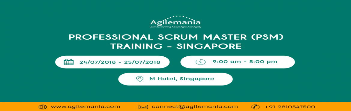 Book Online Tickets for Professional Scrum Master (PSM) Training, Singapore. Overview  Professional Scrum Master training – Singapore will get facilitated by Professional Scrum Trainer (PST) from Scrum.org. This is an opportunity to learn about Scrum and the role of a Scrum Master. Training will help you learn