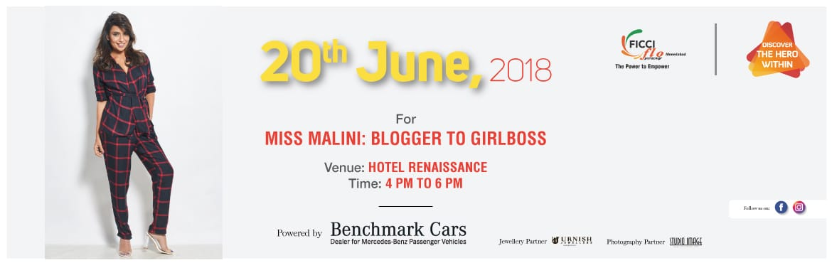 Book Online Tickets for Blogger to Girl Boss with Miss Malini, Admedabad.    YFLO Ahmedabad is bringing Miss Malini to Ahmedabad, where she will be discussing about her journey, future of digital entrepreneurship, digital marketing, strategies for brand engagement advice for home entrepreneurs and want-to-be entrepren