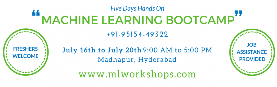 Book Online Tickets for Machine Learning Bootcamp, Hyderabad.