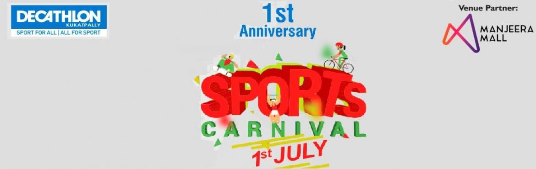 Book Online Tickets for Sports Carnival -Anniversary Run 5K and , Hyderabad. Anniversary Run 5k & 10K @Sporty Festival-Decathlon Kukatpally - \