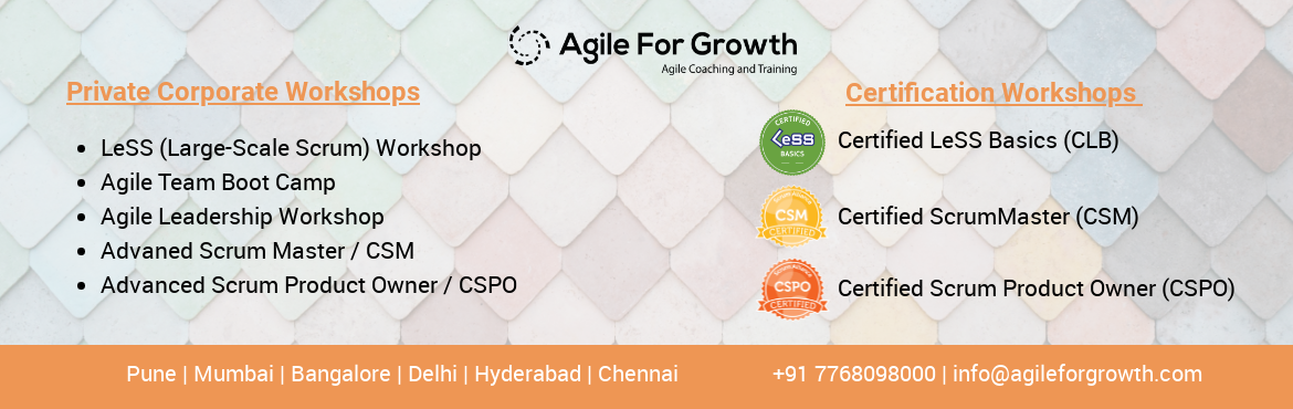 Book Online Tickets for CSM Certification Certified ScrumMaster , Pune.      Certified ScrumMaster (CSM®) aka CSM Certification training offers in-depth coverage of Scrum framework and the role of the Scrum Master. Through engaging content, group activities, and training from the back of the room techn
