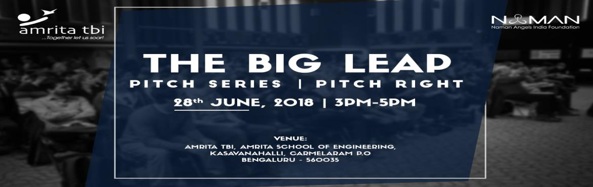 Book Online Tickets for BIG LEAP, Bengaluru. Big Leap is a series of mock sessions, happening every 20 days with live funding final showdown at the end of 40 days, across various cities and locations in India to enable and empower startups of the country. This is a unique, one of its kind missi