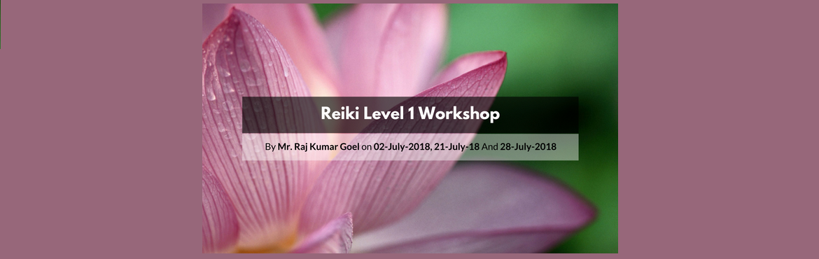 Book Online Tickets for Reiki Level 1 Workshop, Kolkata. Reiki is a Japanese technique which helps in holistic healing. It aids you to not only heal your physical body but also brings about changes in your mind, attitude and helps in your spiritual growth. It helps to heal yourself, your kids, your loved o