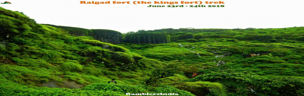 Book Online Tickets for Raigad Fort monsoon trek, Raigad.  There is no need of introduction about Raigad fort. Every avid trekker in Maharashtra wish to visit this fort.Explore the King of forts, The capital of Shivaji Maharaj\'s Kingdom which is graded as one of the most secured forts. This is one of