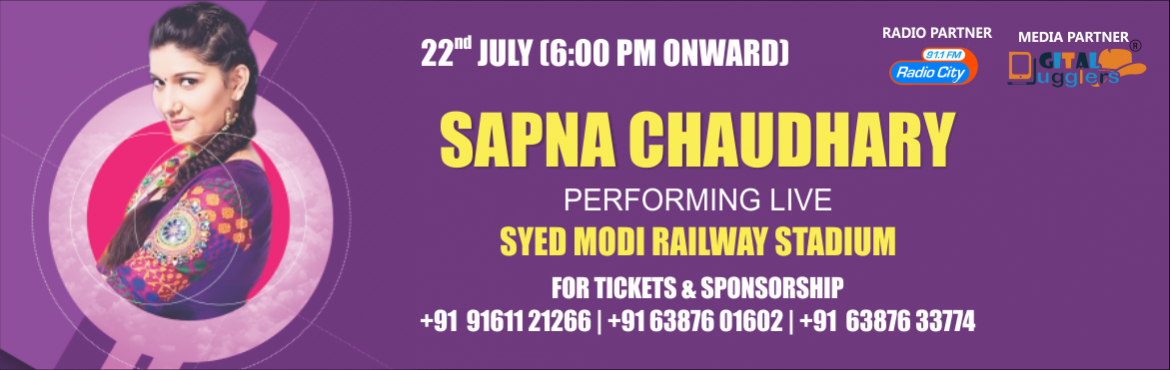 Book Online Tickets for Connect with Sapna Chaudhary and Disconn, Gorakhpur.  Scot Protection Services Pvt. Ltd. and Malang Entertainments is staging a show to Raise Awareness on Encephalitis in Gorakhpur. The show will showcase a live performance by Sapna Chaudhary (Teri Ankhya Ka Yo Kajal fame). An event