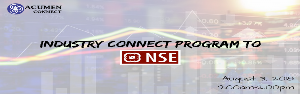 Book Online Tickets for Industry Connect Program to NSE, Hyderabad. The National Stock Exchange of India Limited (NSE) is the leading stock exchange of India, located in Hyderabad. The NSE was established in 1992 as the first demutualized electronic exchange in the country. NSE was the first exchange in the cou