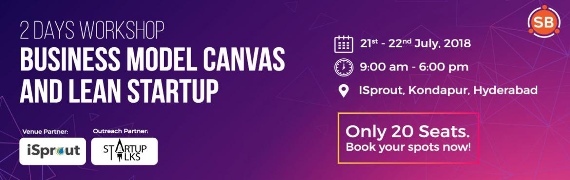 Book Online Tickets for Business Model Canvas and Lean Startup W, Hyderabad. Are you an entrepreneur or aspiring to be one? Are you working on a startup or exploring a business idea to build a startup and feel lost? Have a great idea but need to validate it?Join us for a structured hands on workshop on Business Model Can