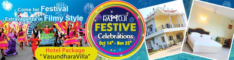 Book Online Tickets for Ramoji Festive Celebrations Family Stay , Hyderabad. Vasundhara Villa – Family Package