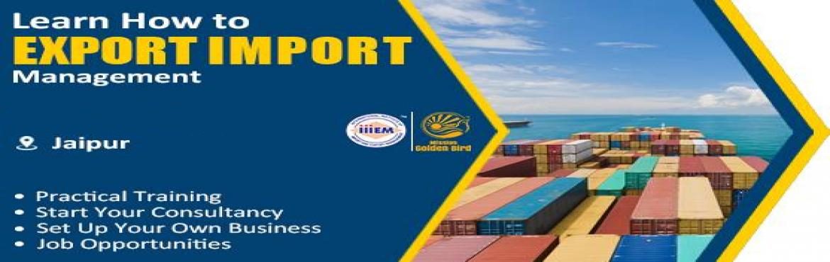 Book Online Tickets for Start and Set up Your Own Import and Exp, Jaipur. Suitable For -1. Any Graduate / MBA student willing to become Exporter / Importer.2. Businessmen having their own shop/ factory/products Or willing to Export their own Products.3. Anyone willing to work in Export /