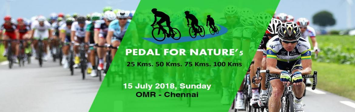 Book Online Tickets for Pedal for Nature 5, Chennai.  Pedal for Nature is an initiative by Saturday Cycling Club in association with arculex (Manggal Arc Event Management Services Pvt Ltd) is a quarterly event started on 19 March 2017. Following which the 2nd edition of the event was on 23 July 2