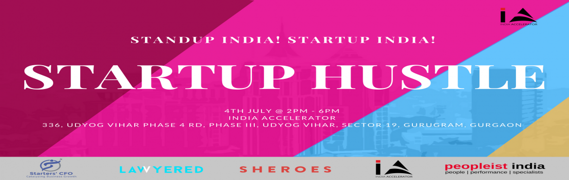 Book Online Tickets for StartUp Hustle 2018, Gurugram.   The StartUp Hustle Meet is for those who believe in themselves, the forward thinkers, the trendsetters, the misfits, the startups and even seasoned business owners who know they're destined to do something massive and want the edge to ma